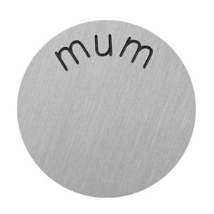 Picture of 'Mum' Large Silver Coin
